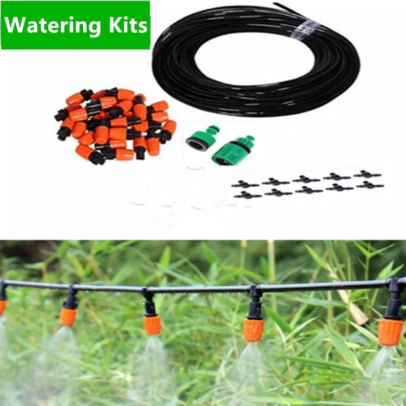 25m Misting Sprinkler Micro Drip Irrigation Adjustable Dripper Faucet Sprinkler Spray Self Watering Kits Garden Flowers BW01