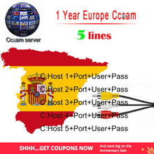 1 Year Europe Cccam Clines Spain Portugal Germany Poland HD cable CCCam Clines For DVB-S2 V7 V8 SUPER Satellite tv Receiver