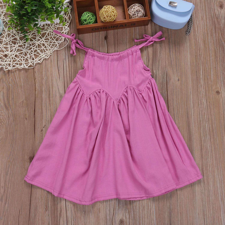 2017 Baby Kids Girls Summer Pink Dress Little Girl Stylish Princess