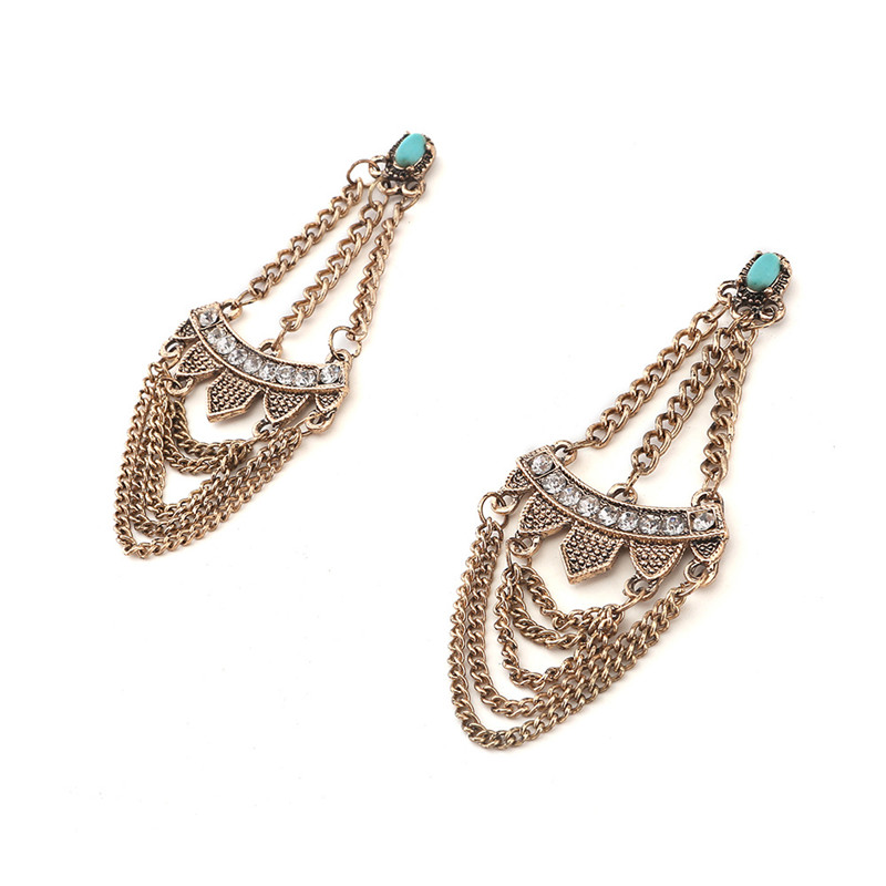 Statement Earrings Hippie Boho aritos Ethnic Tassel Earrings ...