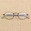 Full metal frame glass lenses female male Reading Glasses Women Men Eyewear 1.0 1.5 2 2.5 3 3.5 4