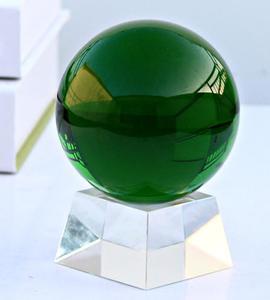 Зеленые украшения хрустальный шар зеленое фантомное украшение для дома Натуральный обсидиан полированный хрустальный шар кварц