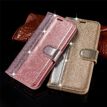 For Samsung Galaxy Note 9 Luxury Flash Drilling Wallet Leather Note9 Stander Card Slot Splice Shining Case