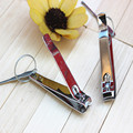 Foldable Hand Toe Nail Clippers Cutter Trimmer Stainless Keychain with Ear Cleaner Earwax Spoon Clean Earpick