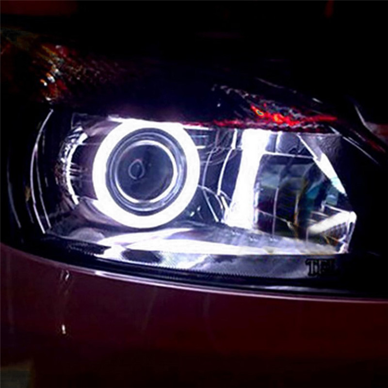80mm Individuality Car Fog Light Led Cars Auto Motorcycle Daytime Running Light Led COB Angel Eye Aperture Headlights For BMW 2016 new design h7 led cree high power 60w 3600lm 6000k super white headlights fog light led cars kit for bmw honda auto tesla