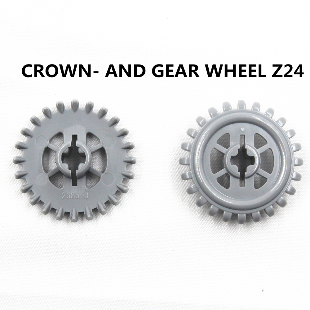 Self-Locking Bricks Free Creation Of Toy Technic Parts CROWN- AND GEAR WHEEL Z24 20Pcs Compatible With Lego