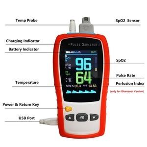 Image 2 - 2.8 TFT LCD אנדרואיד iOS Bluetooth4.0 כף יד דופק Oximeter ילוד תינוק ילד מבוגרים spo2 חיישן מטופל צג דופק