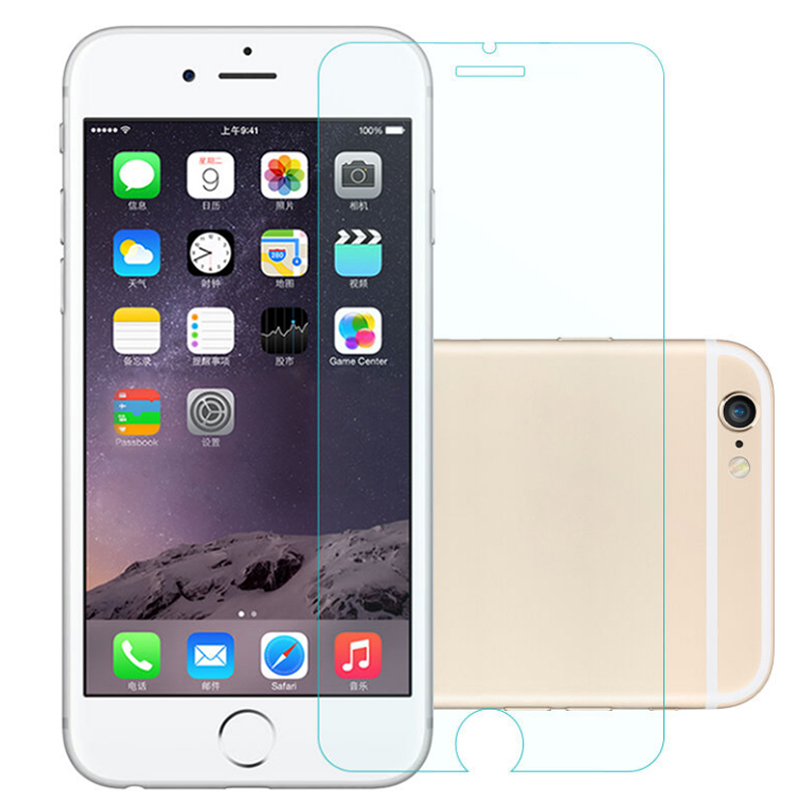 2PCS Tempered Glass Screen Protector Film For Apple iphone 7 6 6S Plus 5 5S SE