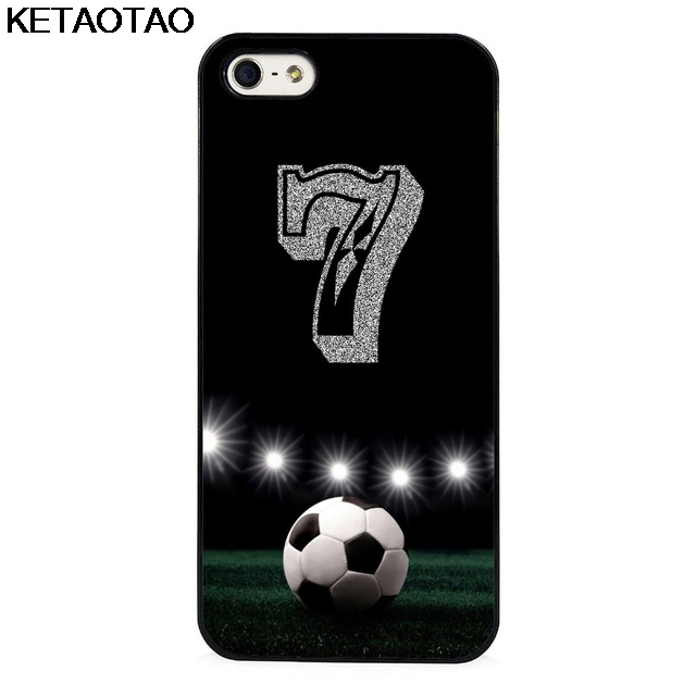 KETAOTAO Personalized Number Soccer Football Phone Cases for iPhone 4S SE 5 5C 5S 6 6S 7 8 Plus X Case Soft TPU Rubber Silicone