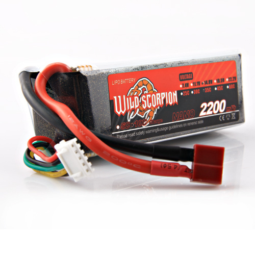 1pcs Wild Sorpion Lipo Battery 14.8V 2200mAh 35C 4S For RC Quadcopter Drone Helicopter Car Airplane wild scorpion 11 1v 5500mah 35c rc car helicopter model plane lipo battery free shipping