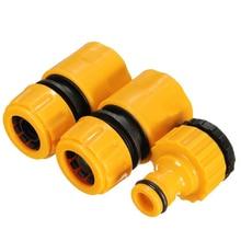 цена на 3pcs 1/2 3/4 Hose Pipe Fitting Set Quick Garden Water Connector Adaptor New