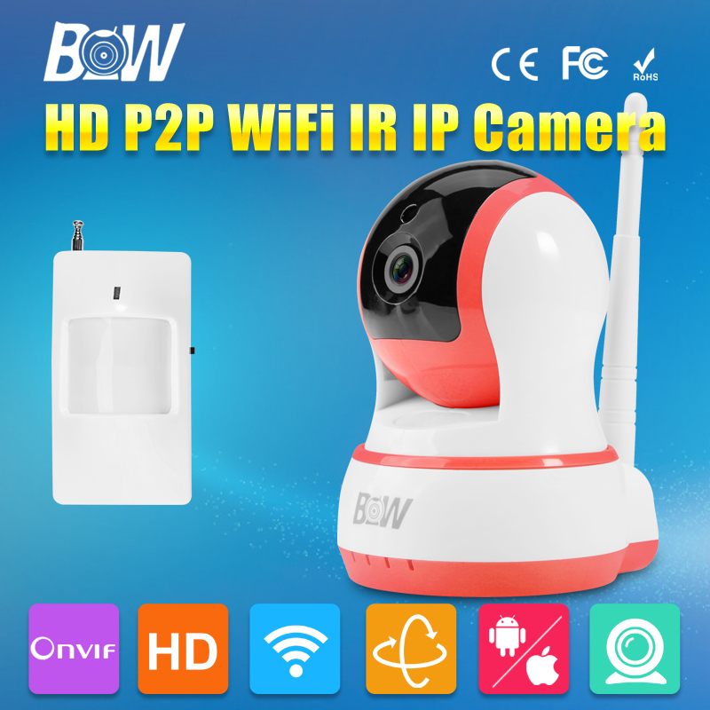 ФОТО BW 720P HD IP Camera Security CCTV Infrared Monitor Sensor Wifi Wireless Mobile Remote 2 Way Audio Smart P2P Support iOS,Android