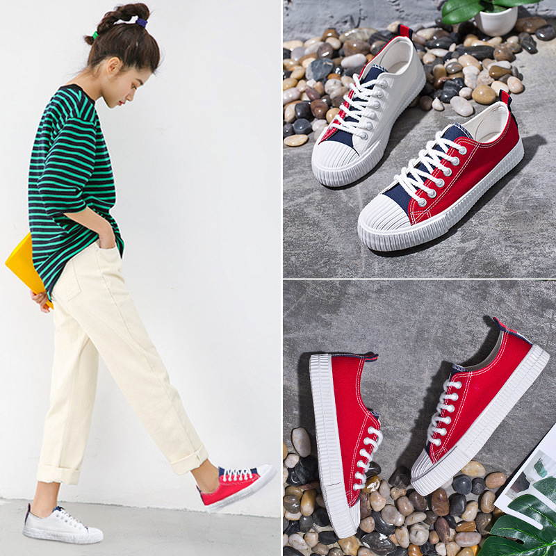 Canvas Shoe 2018 Summer New Pattern Original Night Wind Ulzzang All-match. Student Woman Shoes A Piece Of Generation Hair