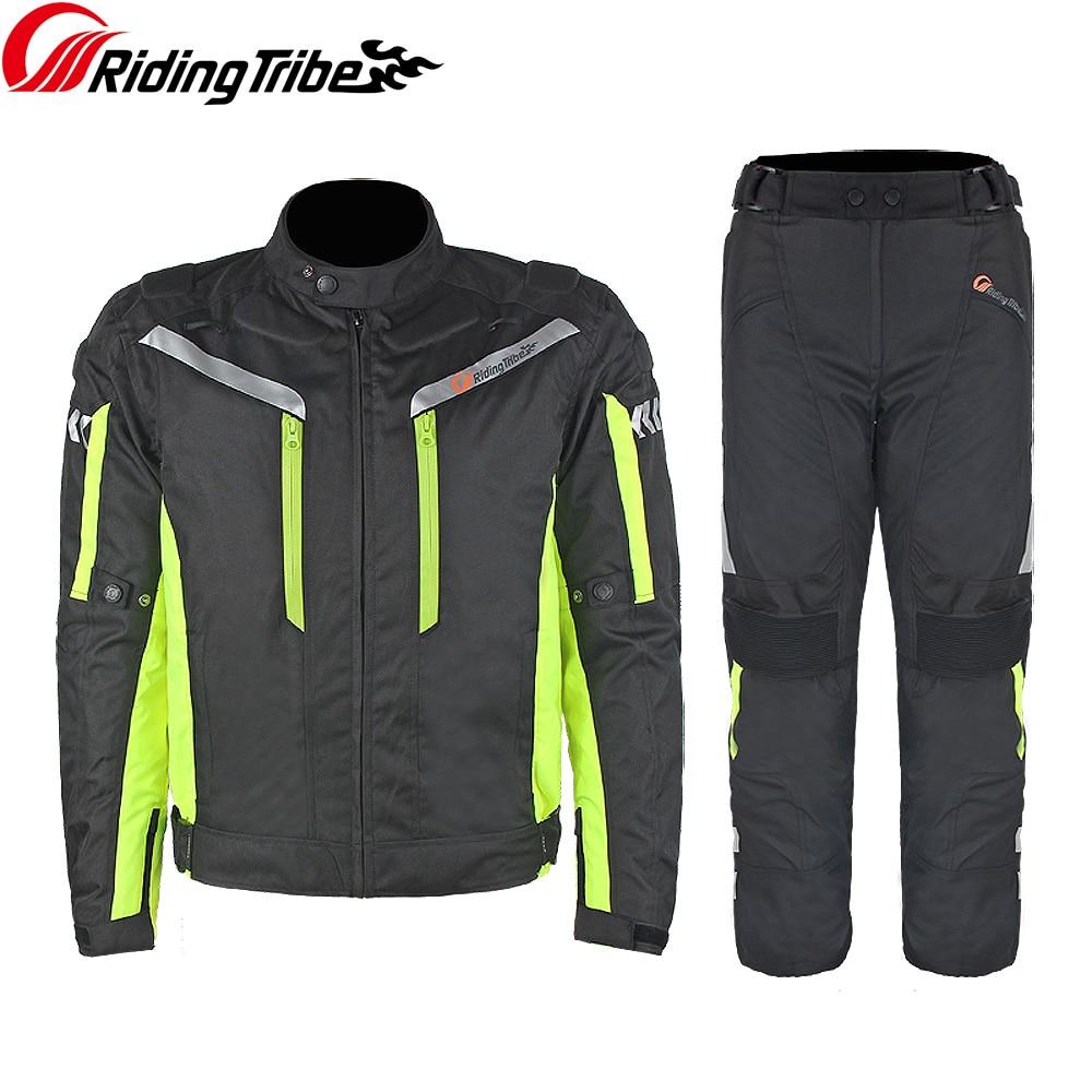 Équitation tribu professionnel Moto veste pantalon hiver chaud Moto costume sécurité Moto course vêtements quatre saisons JK-40A