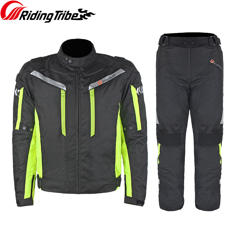 Moto Jaqueta de equitação Tribo Profissional Calças Mornas do Inverno Da Motocicleta Segurança Terno Roupas De Corrida De Moto Quatro Estações JK-40A