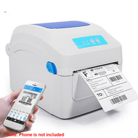 Barcode Printer 203dpi 104mm Width Printing Delivery Order Clothing Label Electronic Thermal Label Printing Machine GP1324D