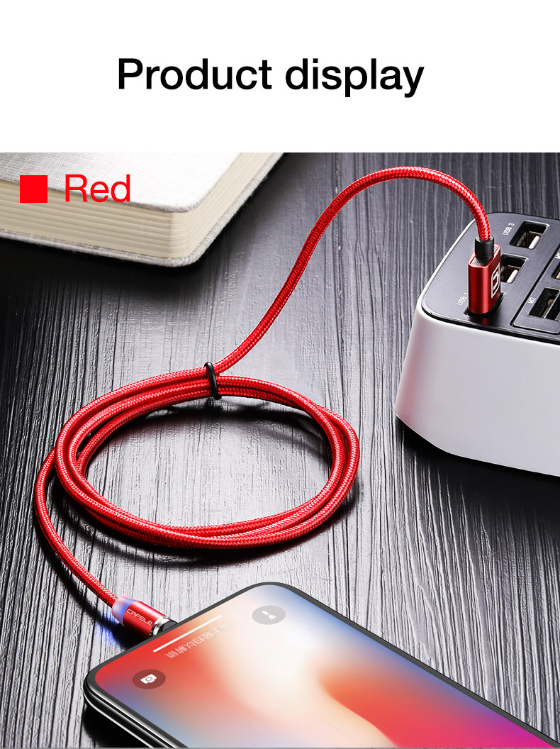 Magnetic usb type c micro cable for iphone x xs max xr 8 7 6 6s plus 5 5s se (12)