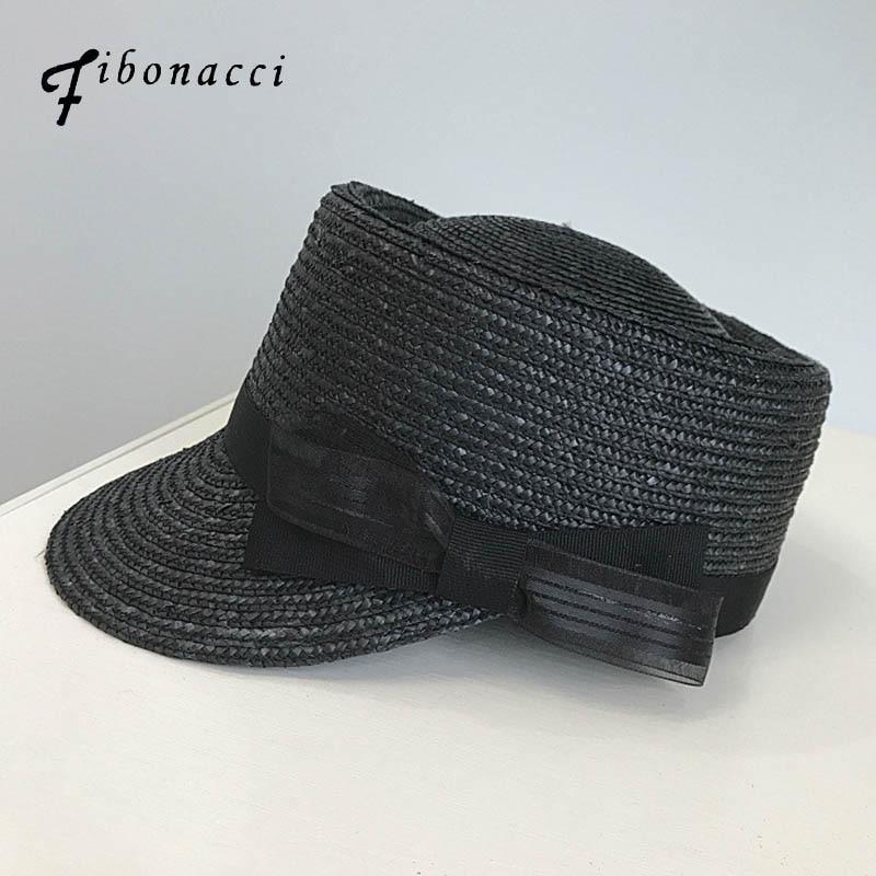 834b7ec72e8 Fibonacci 2018 New Straw Equestrian Hat Cap for Women Men Fashion Bow  Decoration Pork Pie Knight
