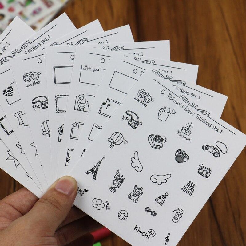 8 Sheets Cartoon Calendar Paper Sticker Scrapbook Calendar Diary Planner Decor