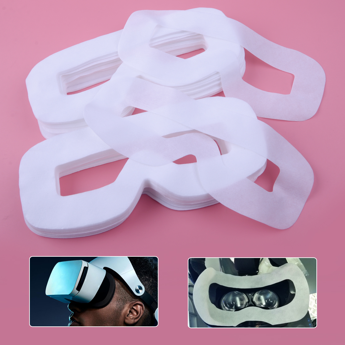 100pcs White Disposable Hygiene Eye Face Mask Patch Covers Non-woven Fabric Fit For HTC Vive PS VR Oculus Glasse100pcs White Disposable Hygiene Eye Face Mask Patch Covers Non-woven Fabric Fit For HTC Vive PS VR Oculus Glasse