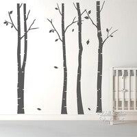 Birch Tree Wall Art Sticker Modern Large Tree Wall Decal Birch Tree Wall Decor DIY Family