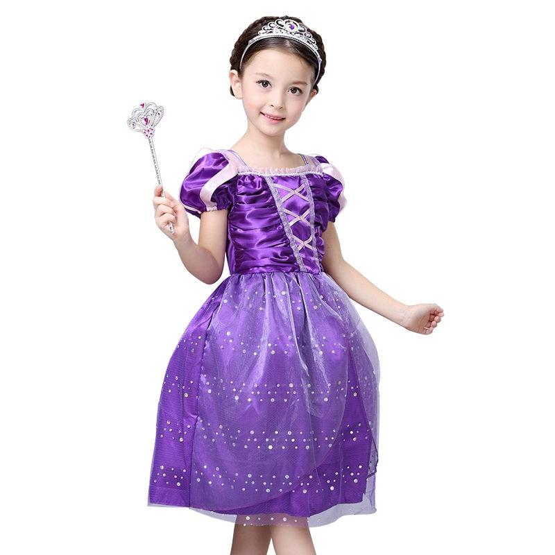 Új Rapunzel gyerekek hercegnő karácsonyi party ruha rajzfilm - Gyermekruházat