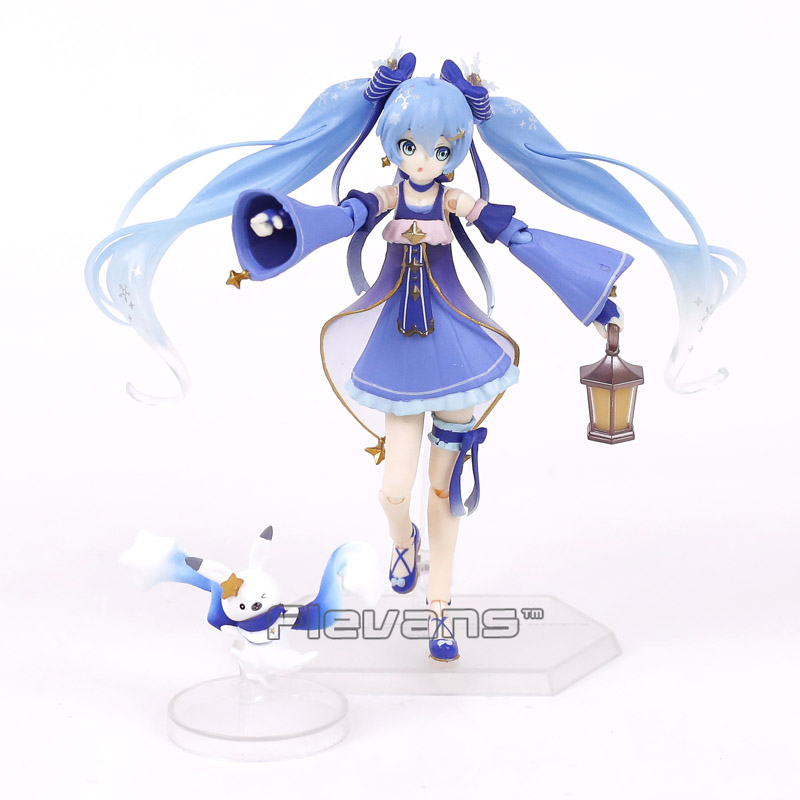 Hatsune Miku figma EX-037 Snow Miku Twinkle Snow ver. PVC Action Figure Collectible Model Toy 14cm shfiguarts batman injustice ver pvc action figure collectible model toy 16cm kt1840