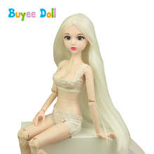 1 pcs 3D Real Eyes Evade Glue Doll Head 1/4 BJD With Hair Doll Accessories Without Make Up Toy DIY Cosplay Doll for Girls Toys plastic doll series 3 newest dress up doll with clothes accessories bottle without ball