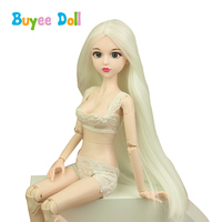 1 pcs 3D Real Eyes Evade Glue Doll Head 1/4 BJD With Hair Doll Accessories Without Make Up Toy DIY Cosplay Doll for Girls Toys