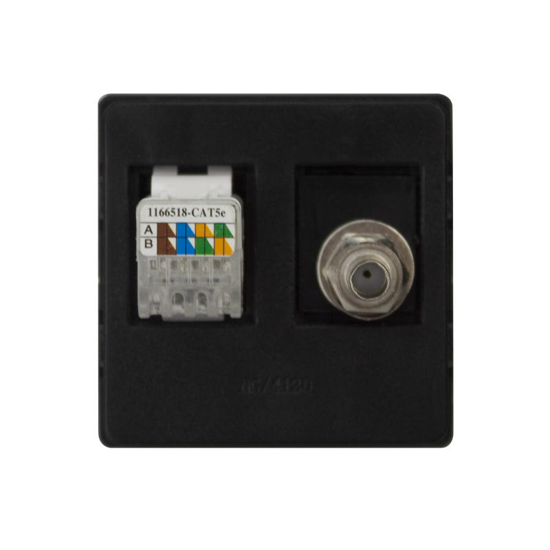 MVAVA Computer Data+TV Receptacle RJ45 Data Outlet Internet Jack ...