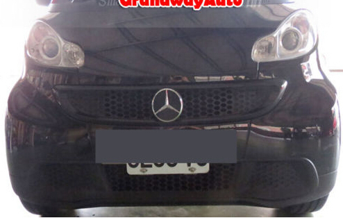 Car Front Grill Grid Logo symbol For MERCEDES BENZ smart 2012 2013 2014 2015 silvery amg logo front grill grille emblems abs chrome material amg badge for mercedes benz cars