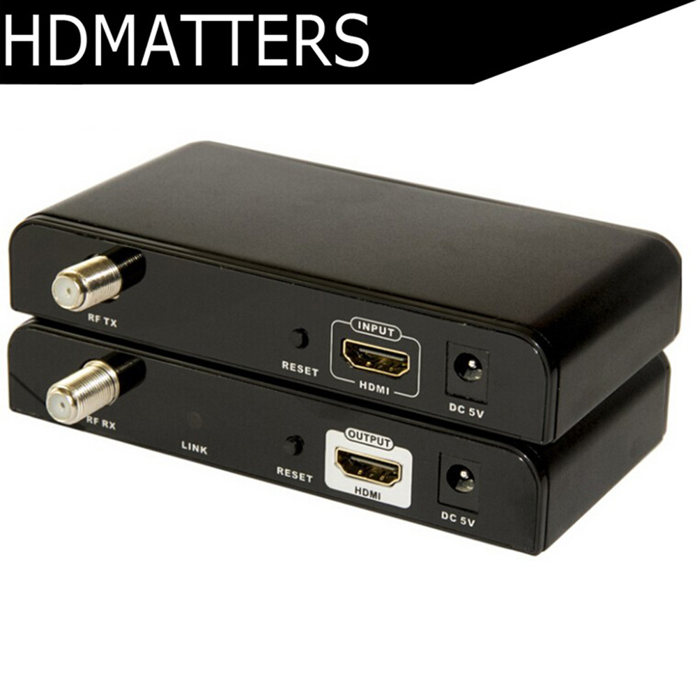 LKV379 HDMI Extender RF Coaxial Cable Splitter 99 Channels up to 500M full HD1080P HDMI extender sender & Receiver included
