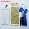 Branco frente de vidro + digitador da tela de toque para o iphone 4 4s 4g substituição para lcd tela & adehsive & ferramentas