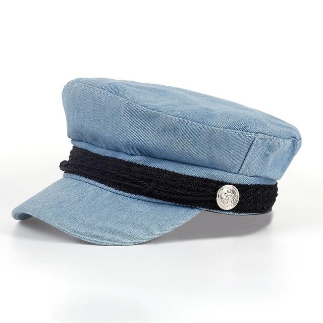 High Quality Fashion Artist cowboy Women Beret Hat For Women Cap Female Cap Flat top navy Chapeu Feminino Boina