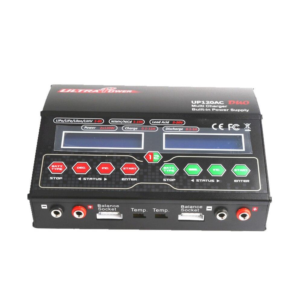 Ультрастепень UP120AC 110 В/220 В AC Вход/DUO CH1 120 Вт, CH2 100 Вт AC/DC 10.0A 2 S Multi баланс Зарядное устройство/Dis Зарядное устройство UP120AC