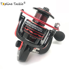 цена Topline Tackle Fishing Reel Ball Bearing Spinning Reel Carp 5.5:1 Saltwater Fishing Wheel Spinning Metal Handle 2 Spool Reels Co
