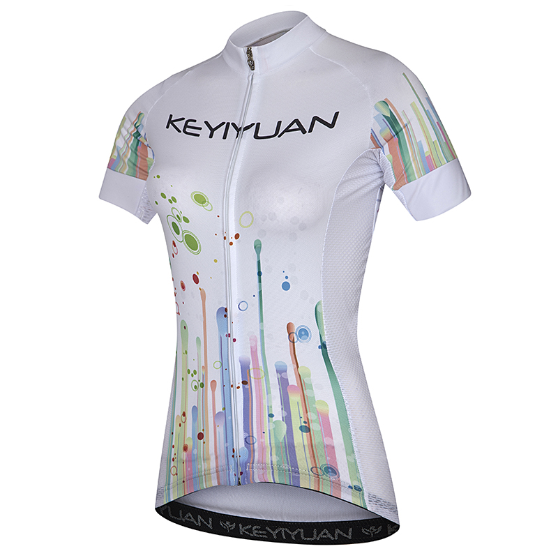 KEYIYUAN Cycling clothes ladies summer sunscreen mountain bike bike shirt breathable outdoor sportswear