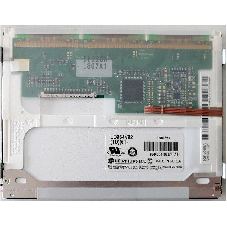 Tout nouveau écran LCD industriel 6.4 ''pouces LB064V02 (TD) (01) écran d'ordinateur 640*480