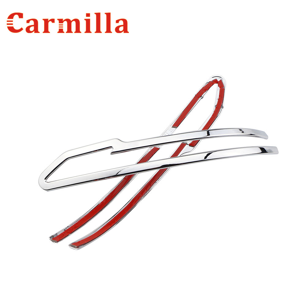 Carmilla Rear Side Mirror Chrome Cover Trim Sticker for Nissan X-trail Xtrail X Trail T32 for Qashqai J11 for Murano 2015 - 2017 flowing turn signal lamp rearview mirror running light for nissan x trail qashqai 2015 2018