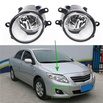 цена на Car Fog Lights For Toyota Corolla 2008-2010 for Camry Ractis Avensis Verso RAV4 2003-2014 halogen Switch wires Grille Covers