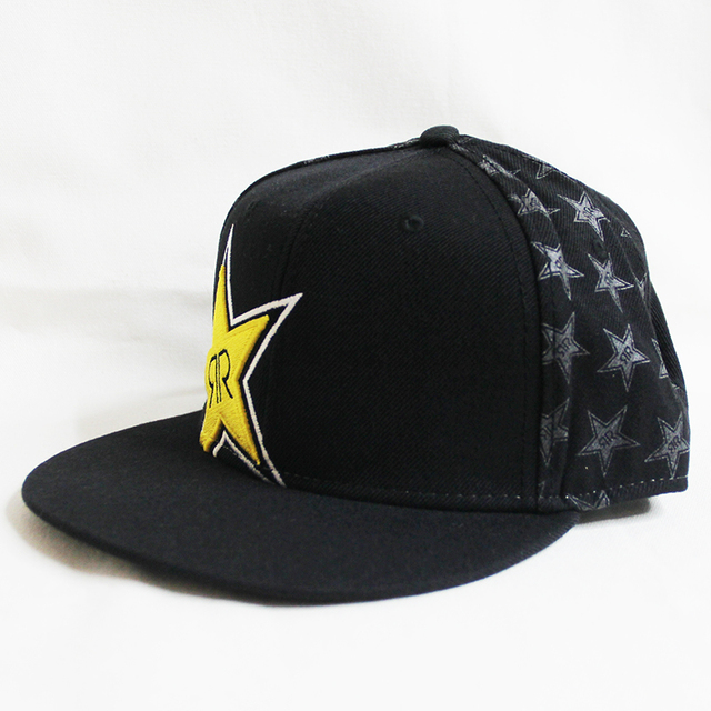 black rock star brand men s baseball cap bone masculino gorras planas  Embroidery pattern hip hop cap d8b7883cd04