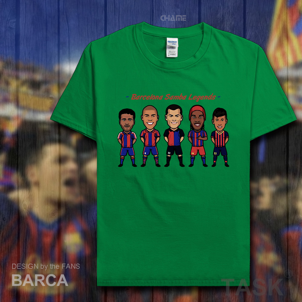 Barcelona footballer star men tshirt 100% cotton fitness The fans short t-shirts streetwear clothes casual summer tees new 02