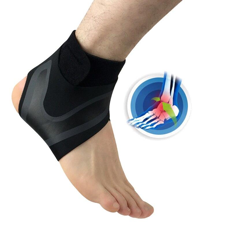Ankle Brace Support Sport Socks Foot Protect Bandage Sprain Prevention Elasticity Adjustment Protection Sport Fitness adjustable sport magnetic keen protection pad brace black