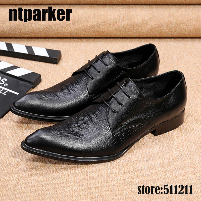 ntparker Fashion mens shoes genuine leather high heels pointed toe wedding/Business dress Shoes Men Black! US6-12ntparker Fashion mens shoes genuine leather high heels pointed toe wedding/Business dress Shoes Men Black! US6-12