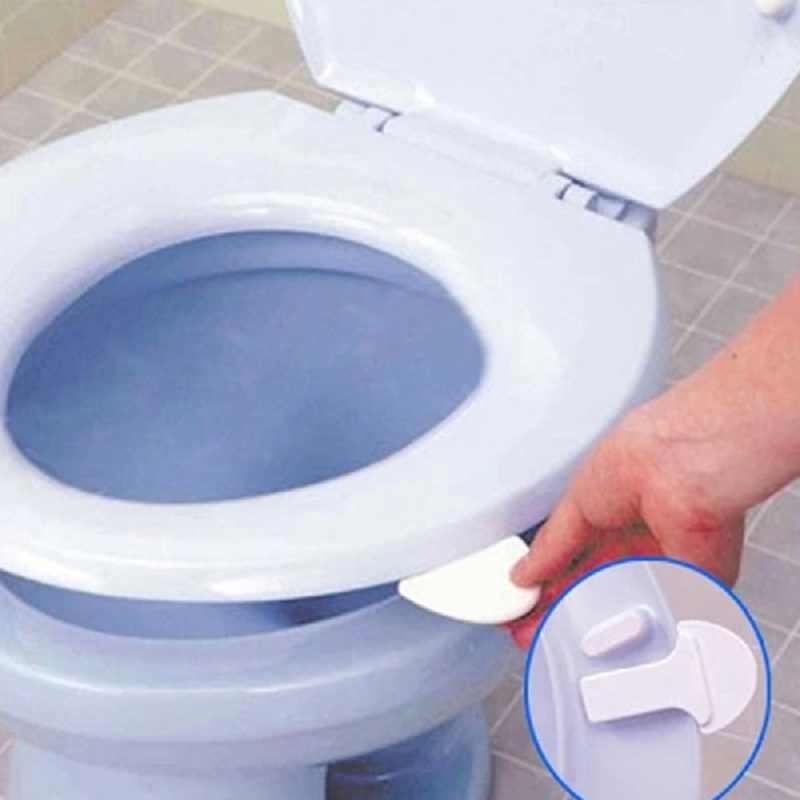 Bathroom Printed Toilet Seat Lid Cover Lifter Handle Holder Stick Avoid Touching