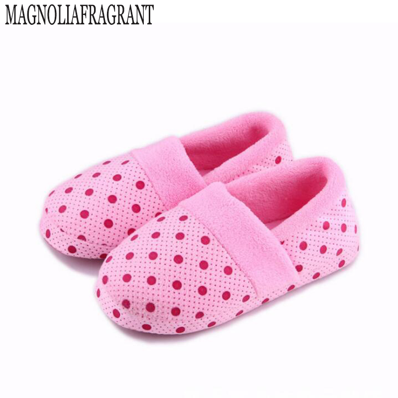 Ms. cute dot fall and winter shoes soft bottom bag with shoes  of warm comfortable home skid cotton slippers wholesale a178 big yards for women s shoes in the fall and winter of 2016 high thickening bottom anti slip with warm confined new fashion shoes
