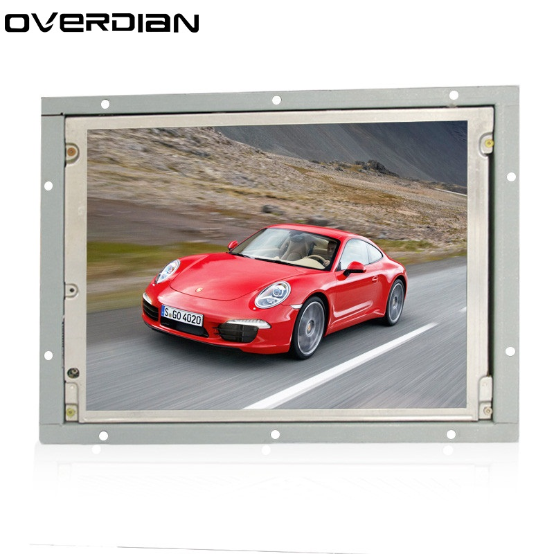 8.4Inch/8.4 Non-Touch Industrial Control Lcd Monitor VGA Interface White Open Frame Metal Shell TFT Type 4:3 800*600 zk080tn 2660 8 inch 1024x768 metal case vga hdmi signal open embedded frame wall hanging industrial monitor lcd screen display