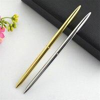 24 шт./лот высокое качество металлическая шариковая ручка Поворотный ручка 0,1 мм чернилами для Бизнес Написание Офис Школьные принадлежност...