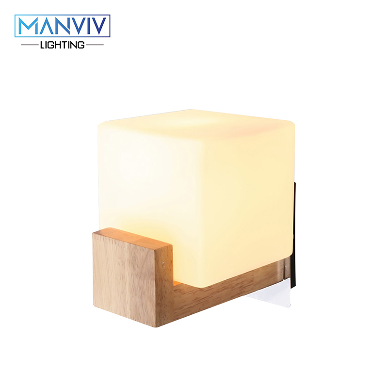 Wood+Glass Mounted Light Modern Nordic Wall Lamp E27 Oak Wooden Wall Lamp LED Indoor Lighting For Living Room Bedroom Corridor free shipping nordic wall lamp living room bedroom indoor wall lamp modern home lighting wall mounted e14 wall lighting