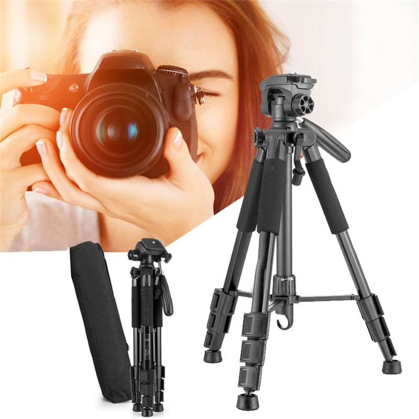 Universal Adjustable Pro Camera Tripod Aluminium Tripods Stand with Pan Head for Sony Nikon Canon SLR DSLR Digital Camera Black contact s genuine leather men bag male shoulder crossbody bags messenger small flap casual handbags commercial briefcase bag